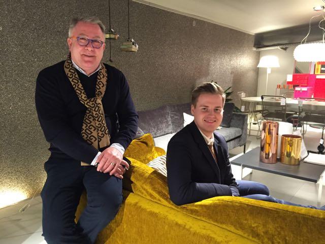 Idëopphav og arrangementsansvarlig Frank Kiil (t.v.) og daglig leder Haakon Bredrup i Kiil. (Foto: Lena Nymark)